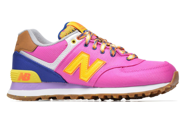 Sneaker New Balance WL574 rosa ansicht von hinten