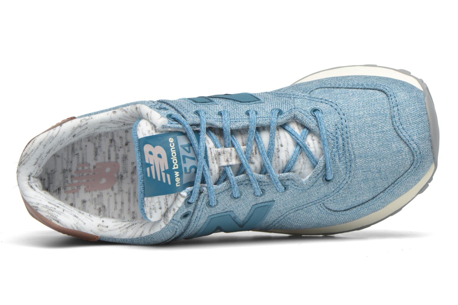Trainers New Balance WL574 Blue view from the left