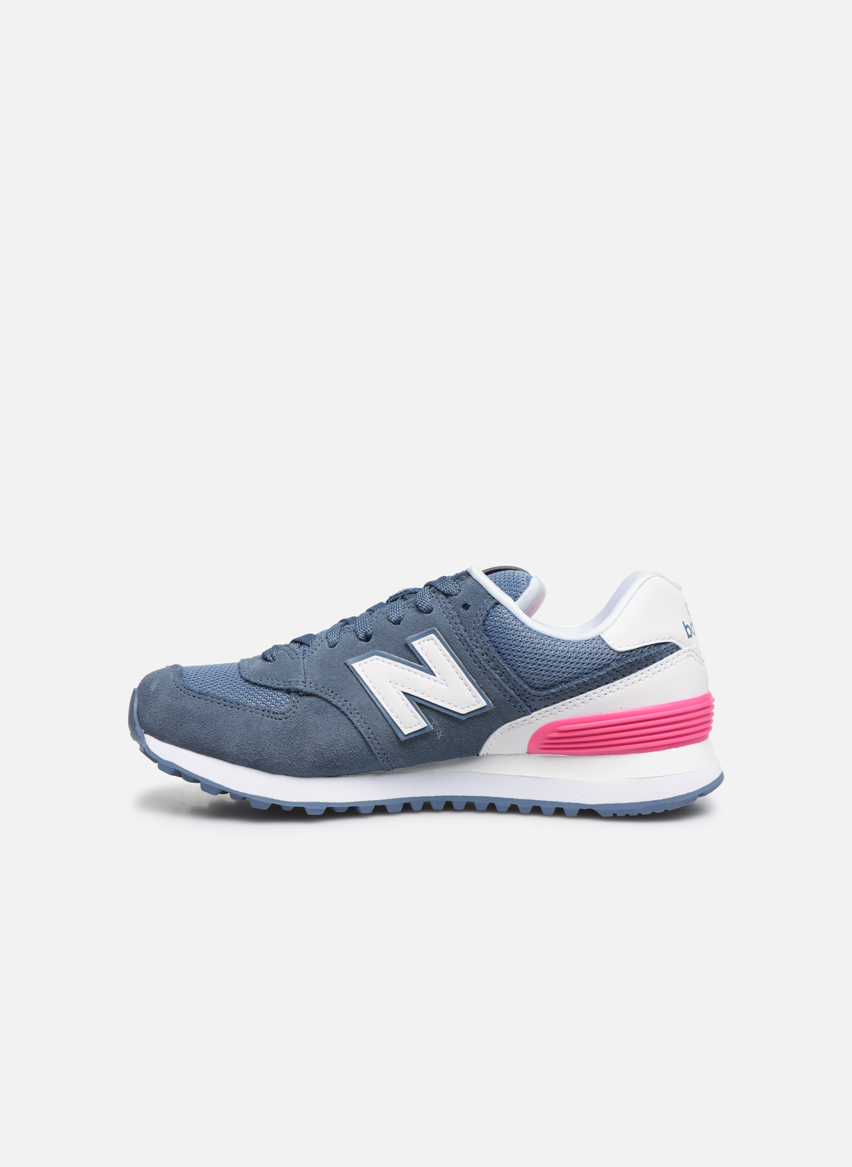 Trainers New Balance WL574 Blue front view