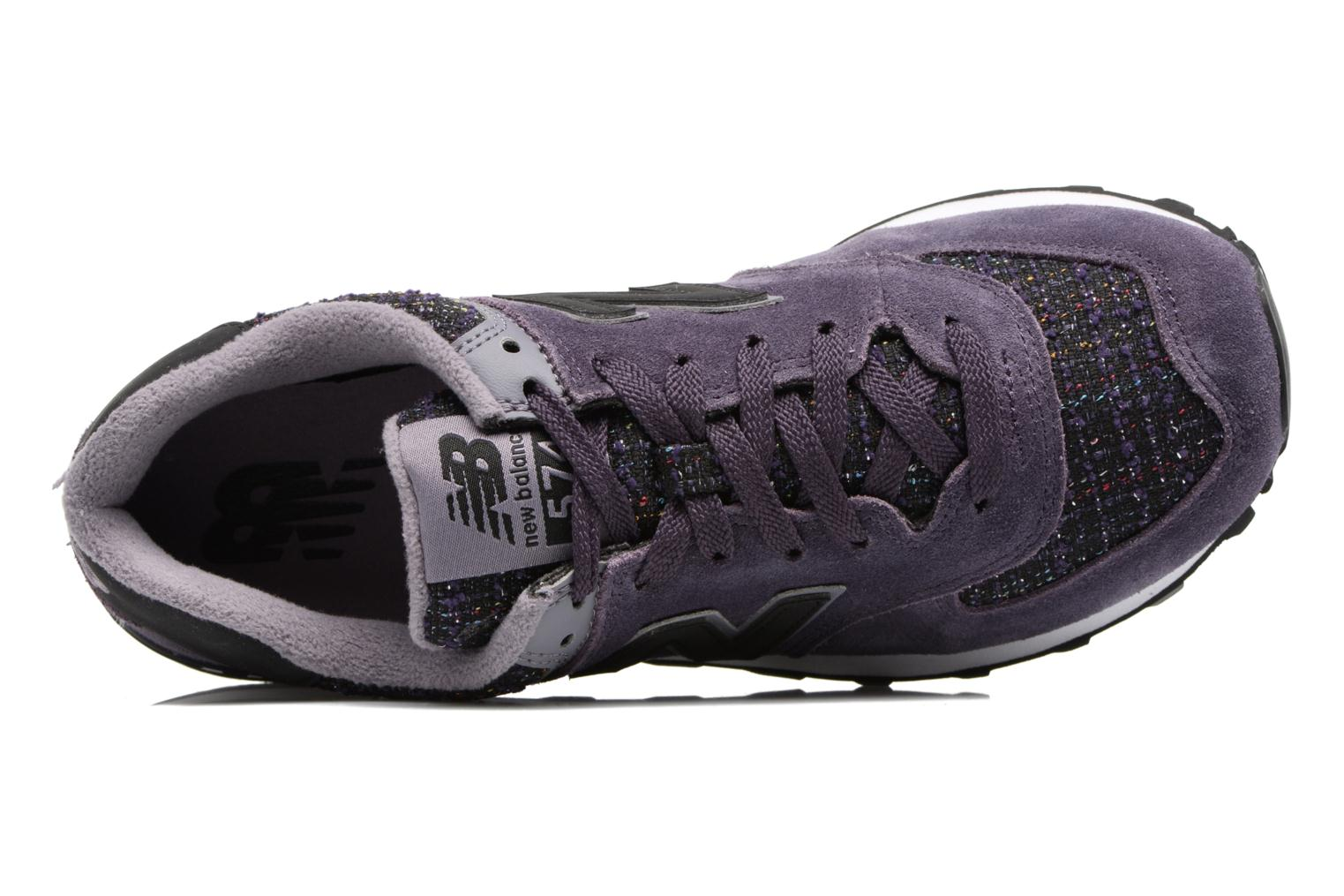 Trainers New Balance WL574 Purple view from the left