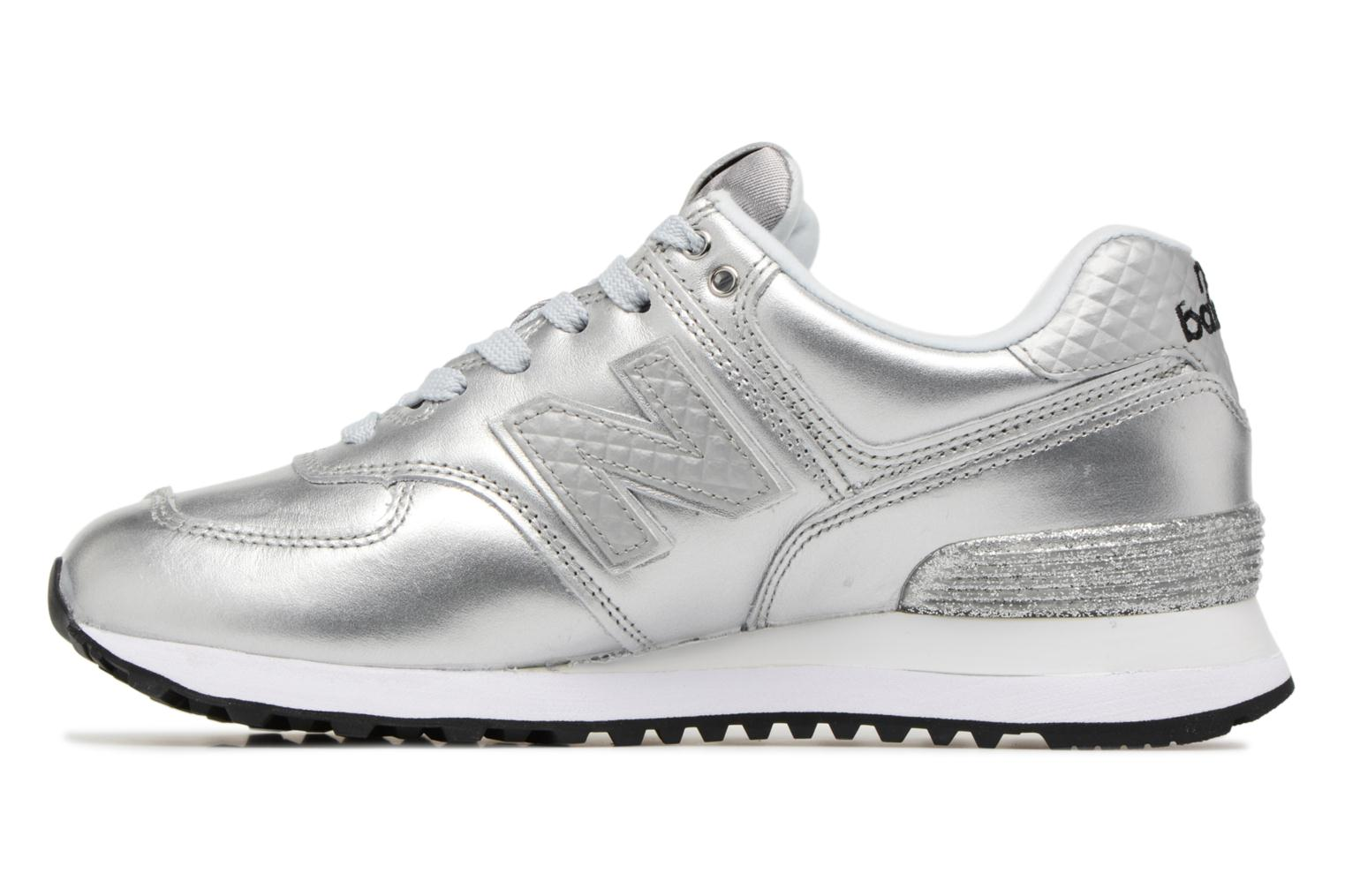 Baskets New Balance WL574 Argent vue face
