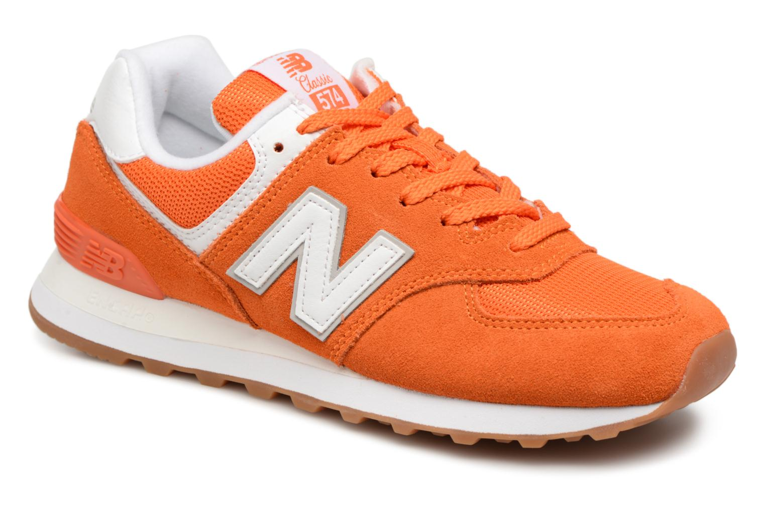 New Balance WL574 (Orange) - Baskets chez Sarenza (325408)