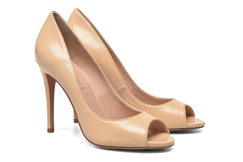 High heels Pura Lopez Gabriella Beige 3/4 view