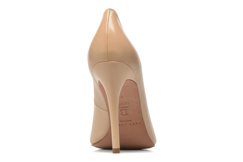 Zapatos de tacón Pura Lopez Gabriella Beige vista lateral derecha