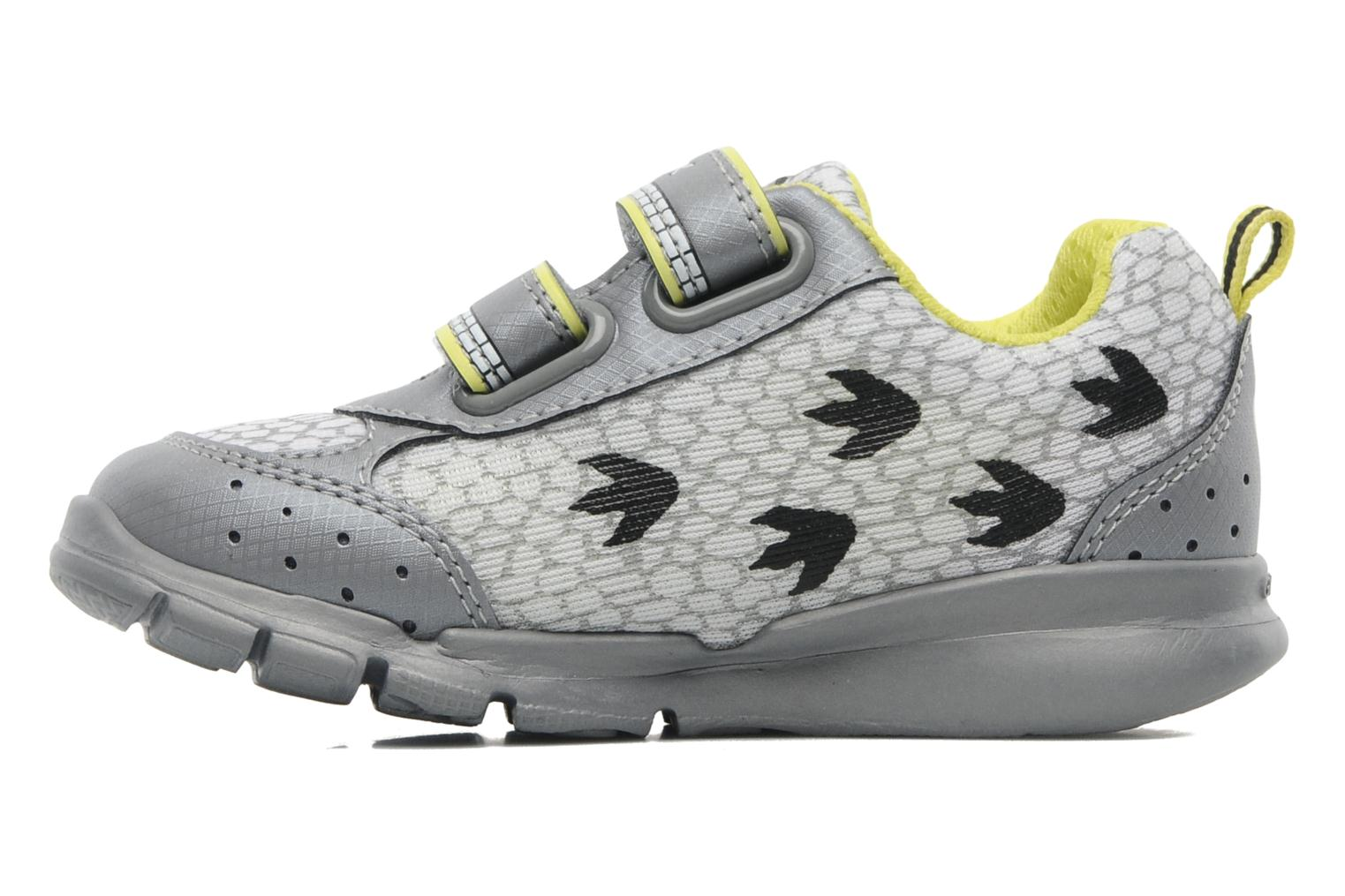 B RUNNER BOY Grey/lime