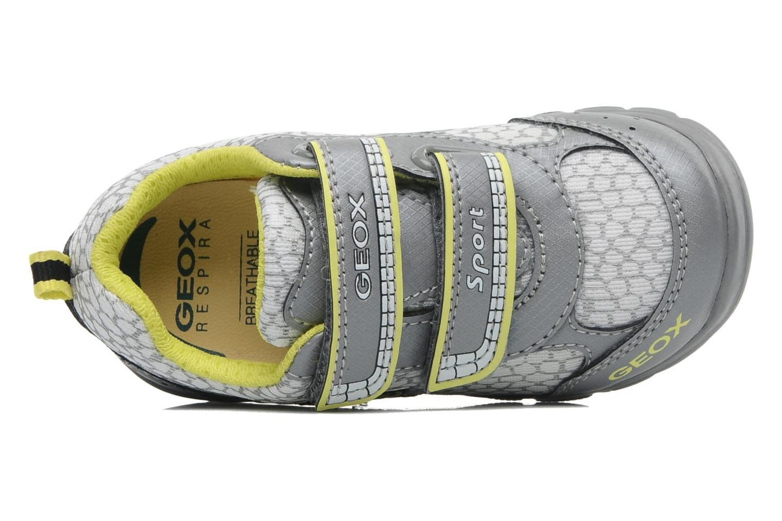 Trainers Geox B RUNNER BOY Grey view from the left