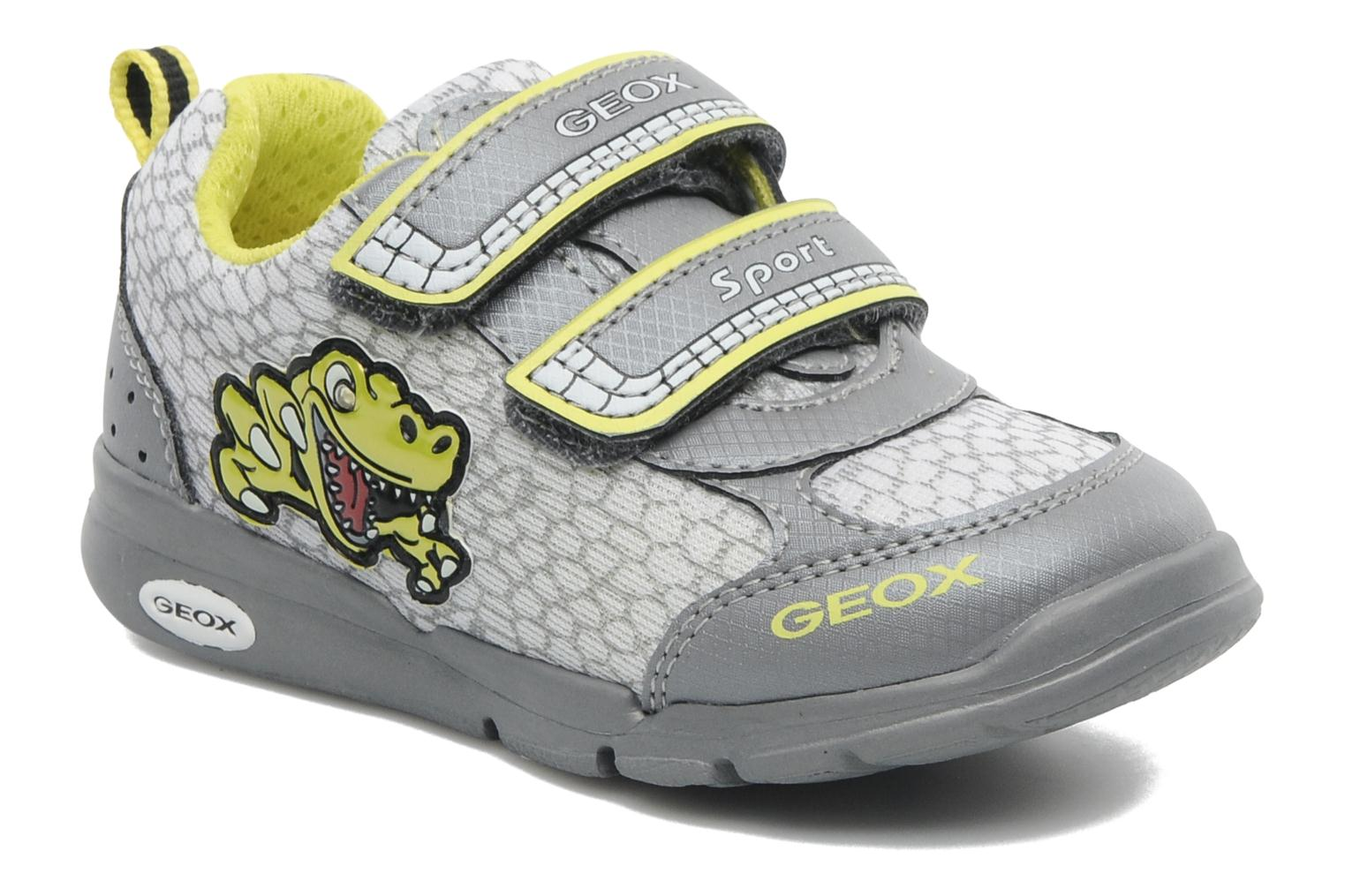 Trainers Geox B RUNNER BOY Grey detailed view/ Pair view