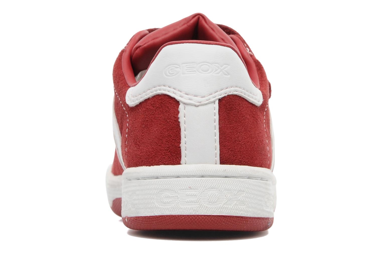 Baskets Geox J Maltin B. A Rouge vue droite