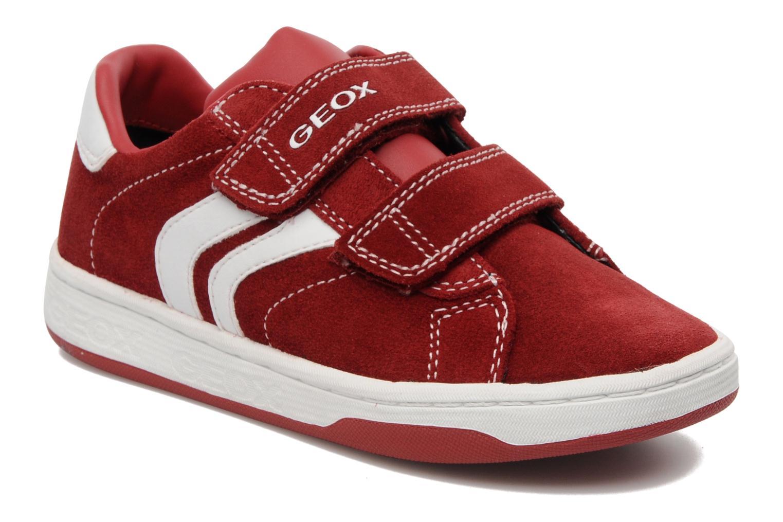 Baskets Geox J Maltin B. A Rouge vue détail/paire