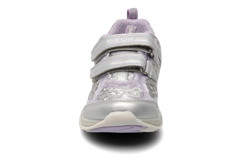 Baskets Geox J EMY B Gris vue portées chaussures