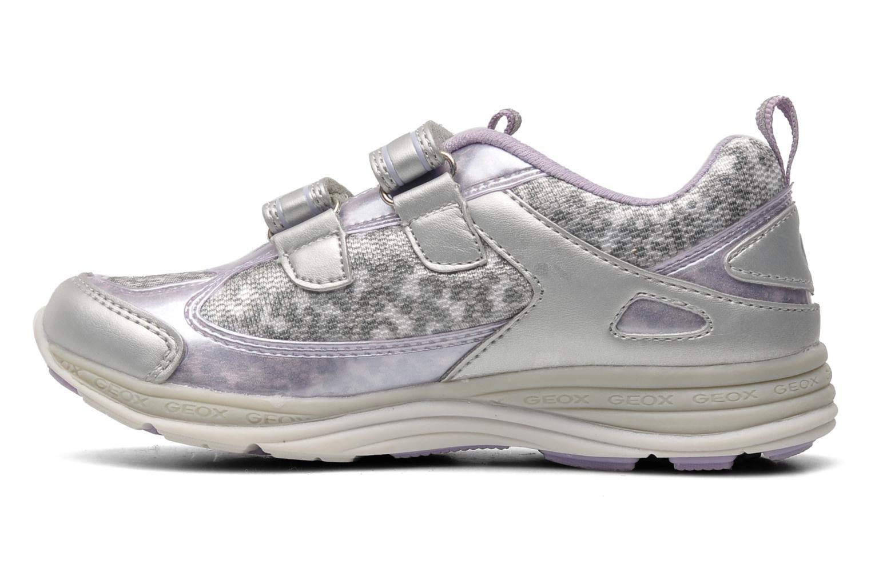 Sneaker Geox J EMY B grau ansicht von vorne