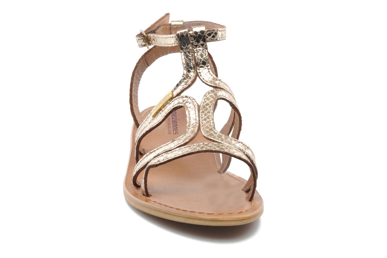 Sandales et nu-pieds Les Tropéziennes par M Belarbi Hayate Or et bronze vue portées chaussures