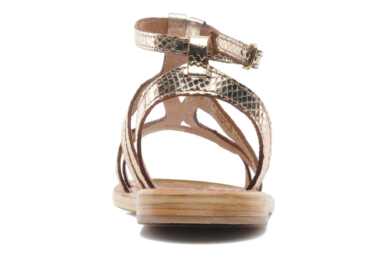 Sandalias Les Tropéziennes par M Belarbi Hayate Oro y bronce vista lateral derecha