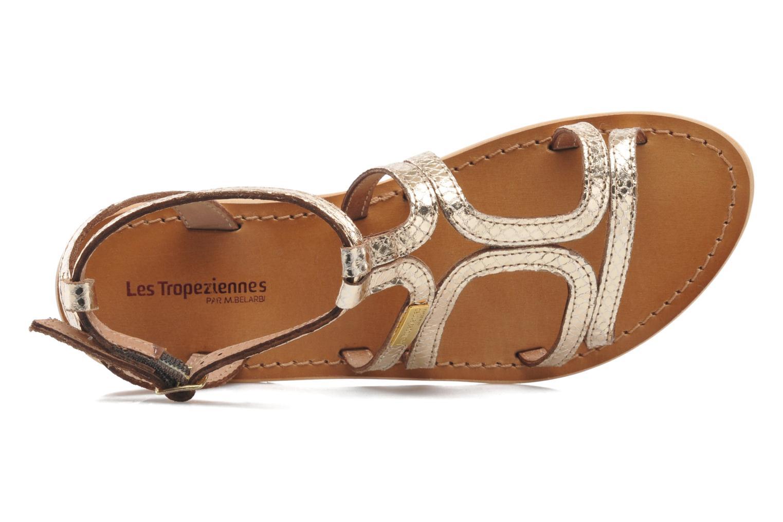 Sandalias Les Tropéziennes par M Belarbi Hayate Oro y bronce vista lateral izquierda
