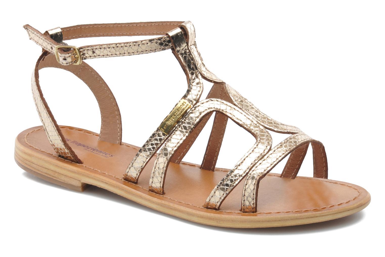 Sandales et nu-pieds Les Tropéziennes par M Belarbi Hayate Or et bronze vue détail/paire