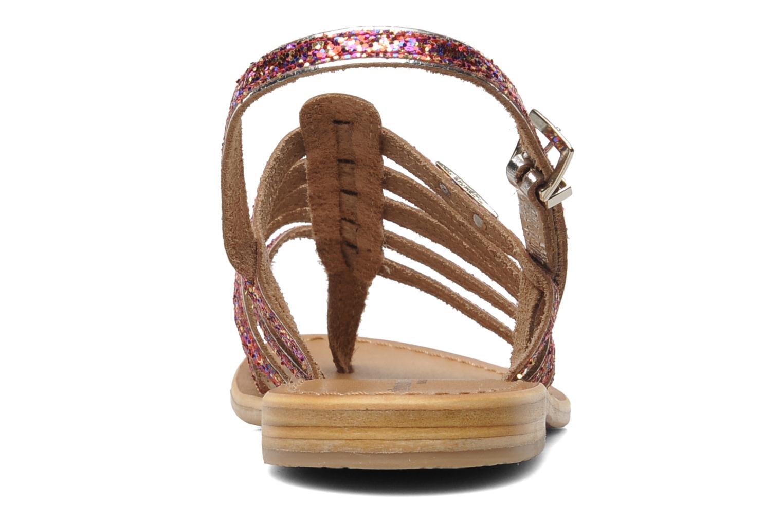 Sandales et nu-pieds Les Tropéziennes par M Belarbi Happy Rose vue droite