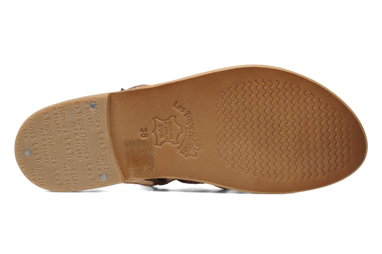 Sandales et nu-pieds Les Tropéziennes par M Belarbi Happy Rose vue haut