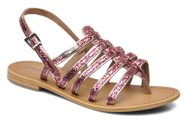 Sandals Les Tropéziennes par M Belarbi Happy Pink detailed view/ Pair view