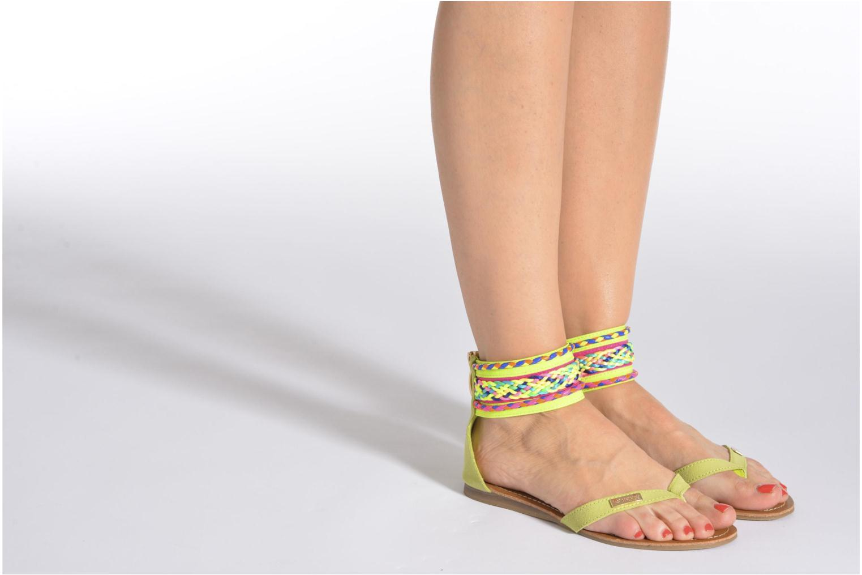 Sandales et nu-pieds Les Tropéziennes par M Belarbi Goa Bleu vue bas / vue portée sac