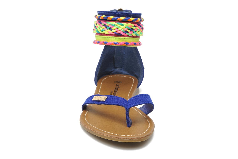 Sandales et nu-pieds Les Tropéziennes par M Belarbi Goa Bleu vue portées chaussures