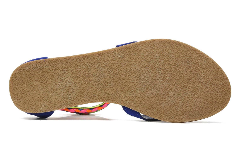 Sandales et nu-pieds Les Tropéziennes par M Belarbi Goa Bleu vue haut