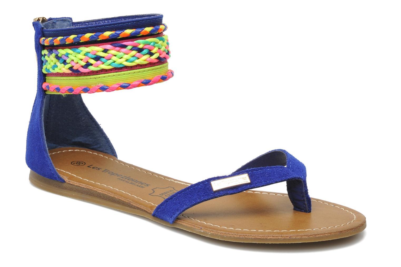 Sandales et nu-pieds Les Tropéziennes par M Belarbi Goa Bleu vue détail/paire