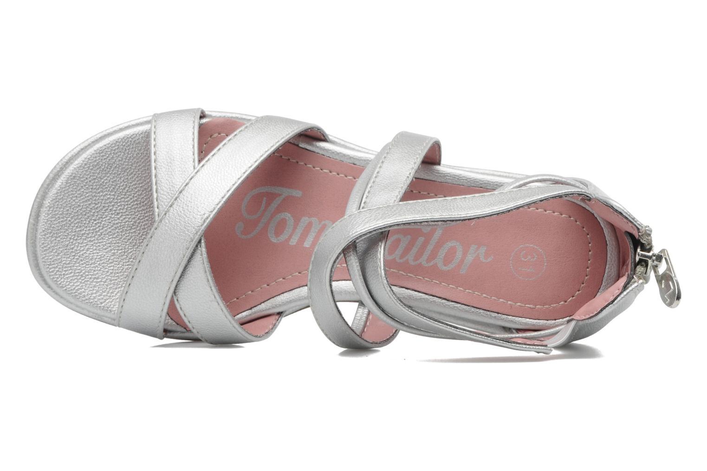 Sandales et nu-pieds Tom Tailor chamoy Argent vue gauche