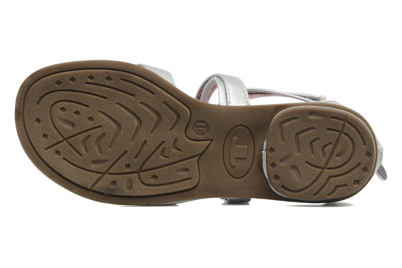 Sandales et nu-pieds Tom Tailor chamoy Argent vue haut