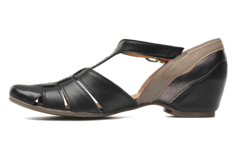 Sandales et nu-pieds Karston Kyza Noir vue face