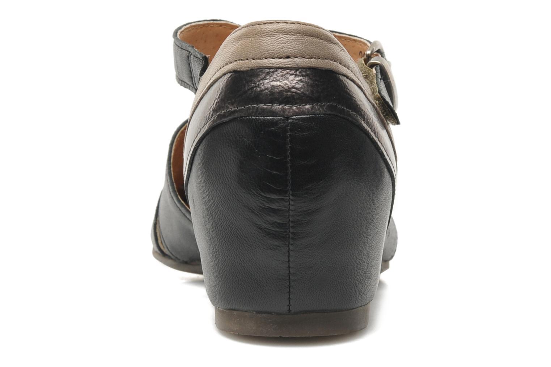 Sandales et nu-pieds Karston Kyza Noir vue droite