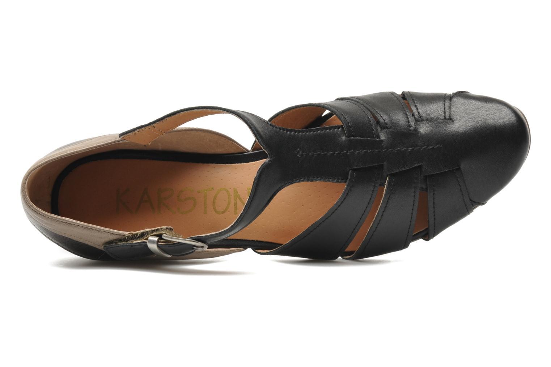 Sandales et nu-pieds Karston Kyza Noir vue gauche