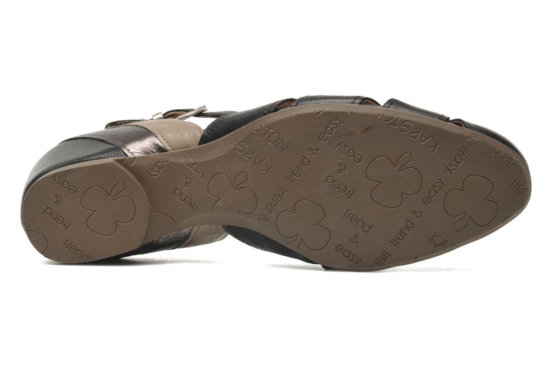 Sandales et nu-pieds Karston Kyza Noir vue haut