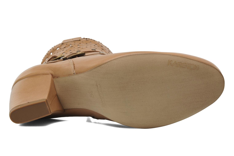 Boots en enkellaarsjes Karston Glaxel Beige boven