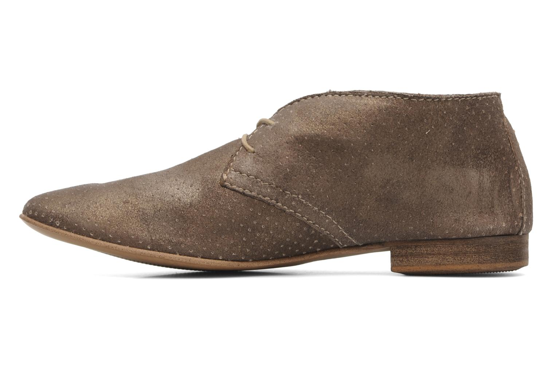 Chaussures à lacets Karston Jolin Or et bronze vue face