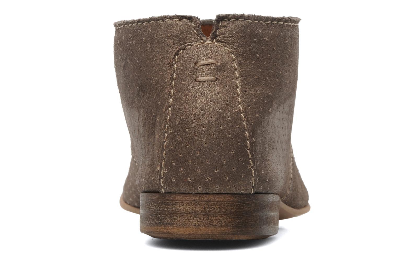 Chaussures à lacets Karston Jolin Or et bronze vue droite