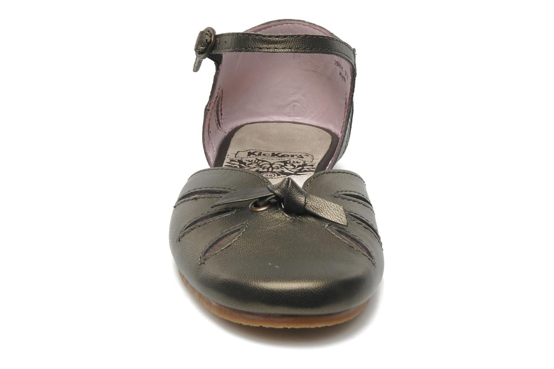Ballerines Kickers Lisy Or et bronze vue portées chaussures
