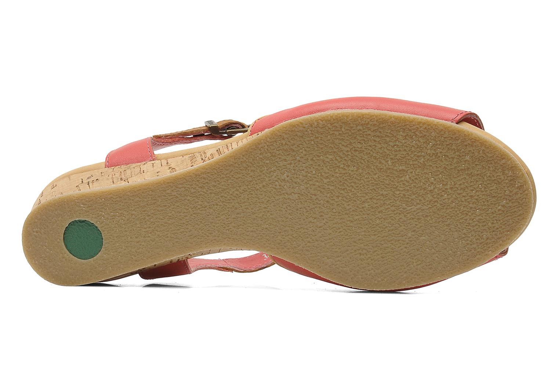 Sandales et nu-pieds Kickers Coco Rose vue haut