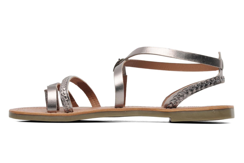 Sandalen Kickers Djapan silber ansicht von vorne