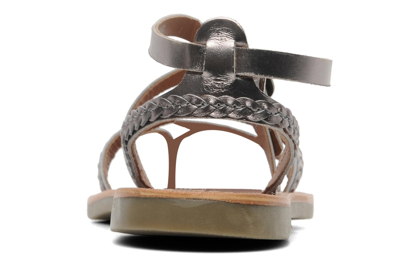 Sandalen Kickers Djapan silber ansicht von rechts