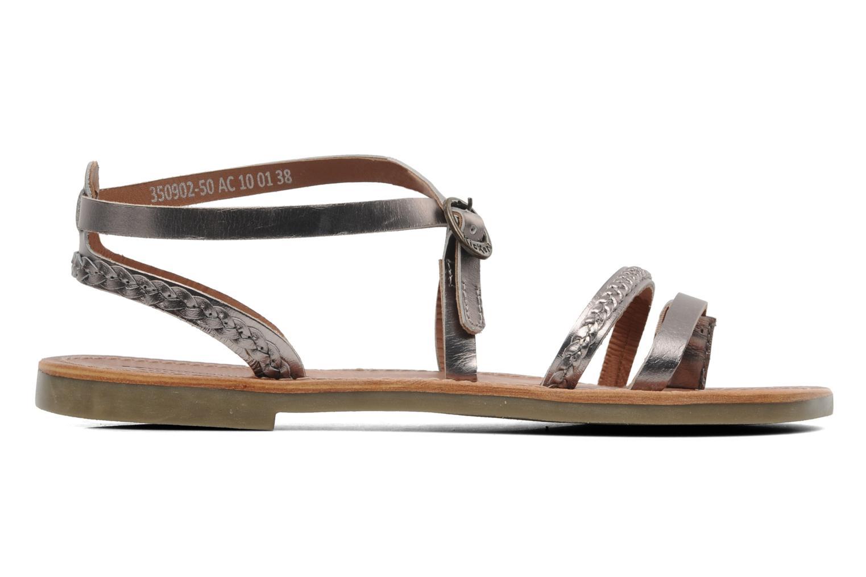 Sandalen Kickers Djapan silber ansicht von hinten