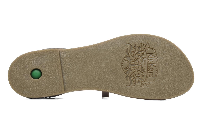 Sandalen Kickers Djapan silber ansicht von oben