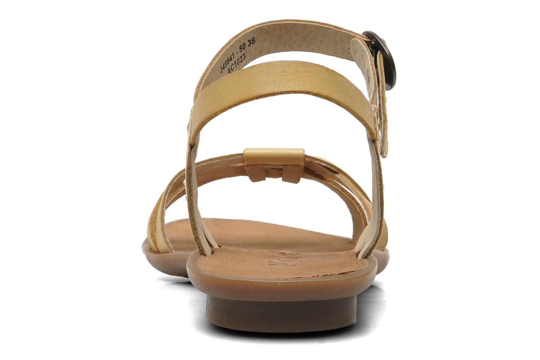 Sandales et nu-pieds Kickers Zephir Beige vue droite