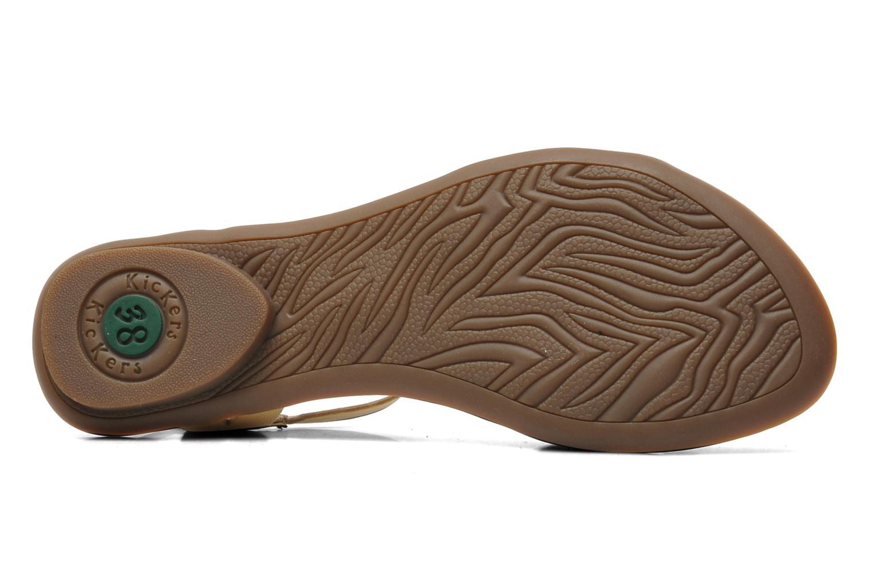 Sandales et nu-pieds Kickers Zephir Beige vue haut