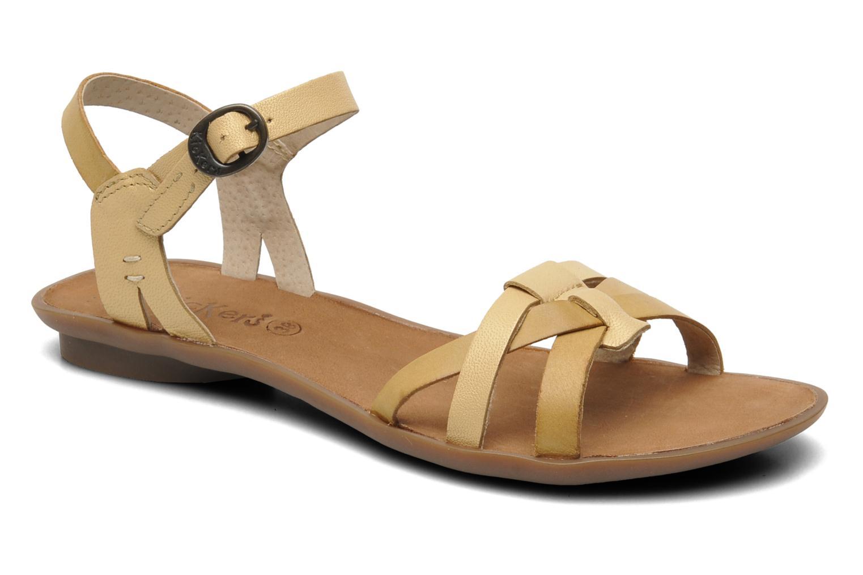 Sandales et nu-pieds Kickers Zephir Beige vue détail/paire