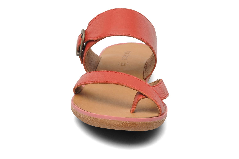 Sandalen Kickers Hypy rot schuhe getragen