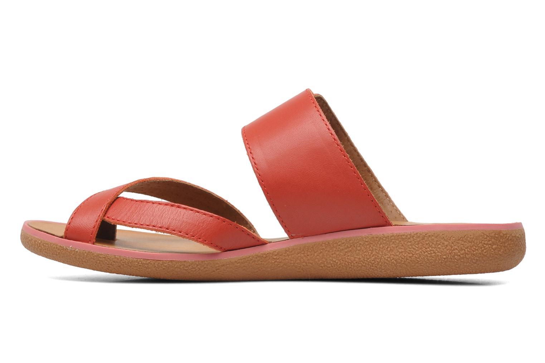 Sandalen Kickers Hypy rot ansicht von vorne