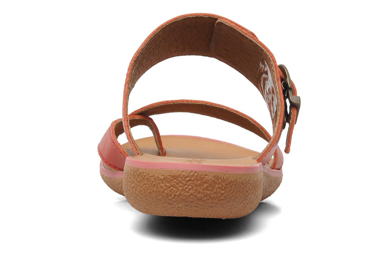 Sandalen Kickers Hypy rot ansicht von rechts