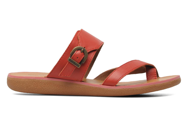 Sandalen Kickers Hypy rot ansicht von hinten