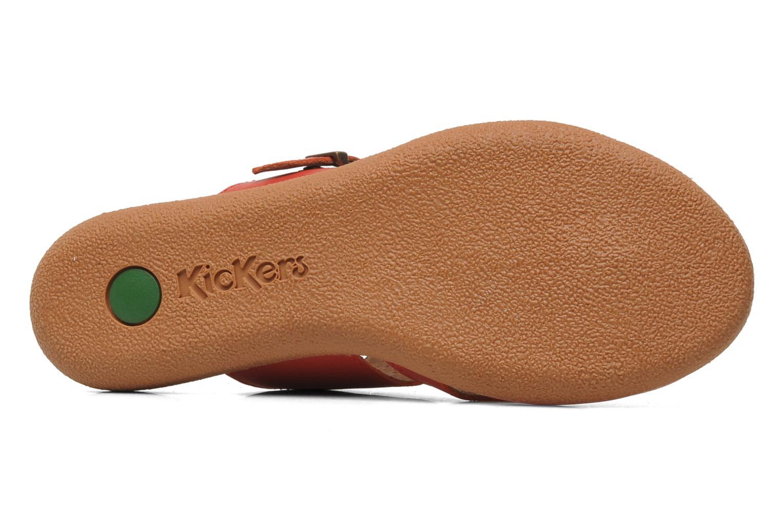 Sandalen Kickers Hypy rot ansicht von oben