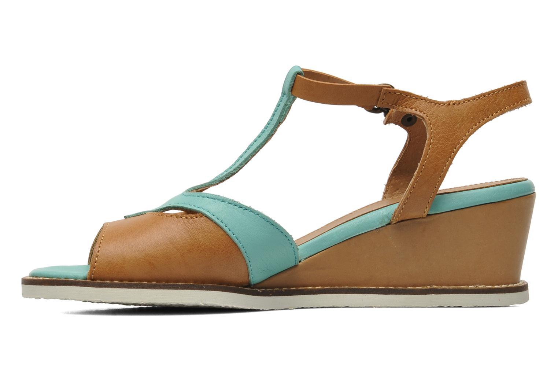 Sandalen Kickers Seshuan grün ansicht von vorne